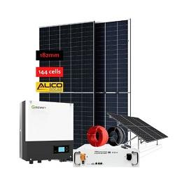 D'énergie solaire 30W Accueil Système d'éclairage avec ventilateur CC de la famille de refroidissement