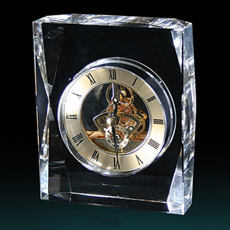 Cristal simple decoración reloj de vidrio de reloj de sobremesa
