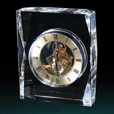 Cristal simple reloj de escritorio decoración del reloj de cristal