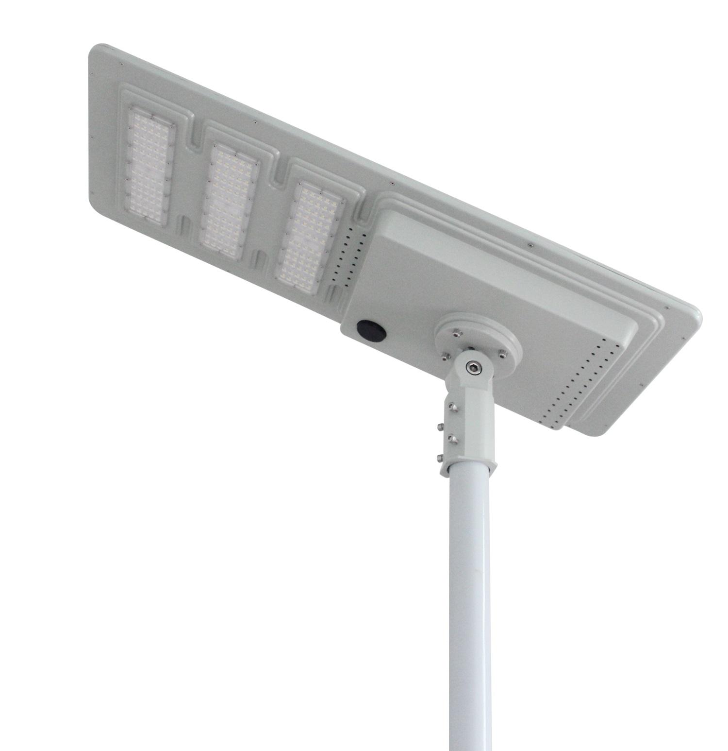 60W Luz Rua solar integrada de forma alta