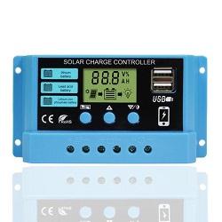 (HM-10B) Продажи 12V/24V10A дисплей со светодиодной подсветкой солнечного питания контроллера