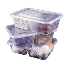 Разделенные Двухместные Купе Пластиковые PP Пищевых Контейнеров / Box 650 / 850мл