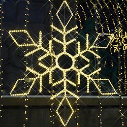 Decoración de Navidad LED Motivo Grandes Copos de Nieve de las Luces de Temáticas