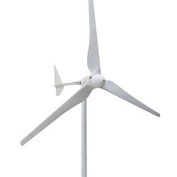 Sistema híbrido solar e eólico Sistema de vento controlado com gerador de vento fora de grade de 200W para casa