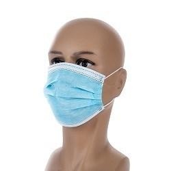 3 plis médicale et chirurgicale des non tissé de filtrage masque jetable