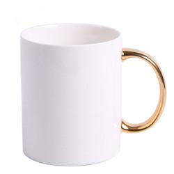 Venda por grosso de esmalte promocionais cerâmica xícara de chá