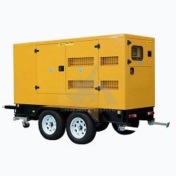 Station d'alimentation de remorque Groupe électrogène Diesel avec auvent