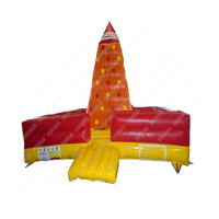 Hot Selling PVC Amusement Inflatable Water Rock Climbing Wall