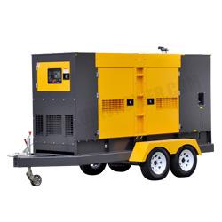 Prêt à utiliser 100kVA deux roues Type De Générateur Diesel de remorque
