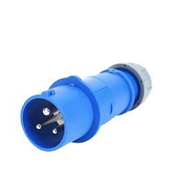 IP44 3p de 16 Conectores Industriales Impermeable Azul