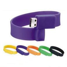 Impulsión del flash del USB de la pulsera de Vking, impulsión del flash del USB del Wristband del caucho de 2GB / 4GB / 8GB / 16GB / 32GB / 64GB, pulsera del color USB