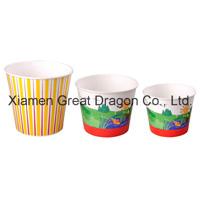 Кнопки двусторонняя полимерной бумаги холодной мороженое чашки (PC11001)