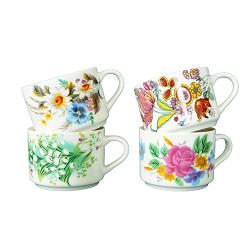 Eco-Friendly 20oz Custom Ceramic New Bone China Mug Tasses