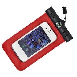 Teléfono móvil bolsa impermeable de PVC con brújula
