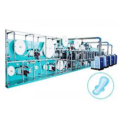 La velocidad máxima de la línea de producción de toalla sanitaria desechable máquina embolsadora Jwc-Kbd con Auto-SV