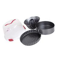 5 ПК с круглыми Bakeware случае углеродистой стали повредить антипригарное покрытие BAKEWARE Bakeware (SL)