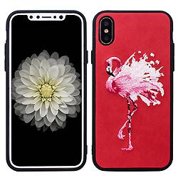 Pegar el bordado de la piel para el caso del teléfono iPhone x