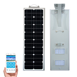 90W à LED intégrée Rue lumière solaire avec panneau solaire de la batterie