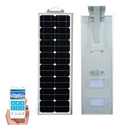 Integrated 90W LED Solar Street Light com bateria Painel solar