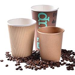 O logotipo personalizado impressas duplicadas de parede simples papel de café quente descartáveis Cup