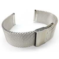 Banda de reloj de malla de acero inoxidable