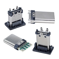 Conector USB 3.0 Af hembra vertical para teléfono móvil/PND/PDA