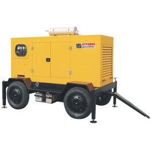30kw Marquise silenciosa tipo gerador diesel de Reboque móvel