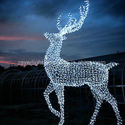 Chaîne de rennes LED géant Motif décoratif des lumières pour la décoration de Noël