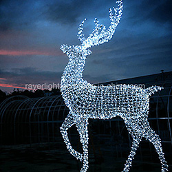 Reno de LED Gigantes Motivo Decorativo de Cadena de Luces para la Decoración de Navidad