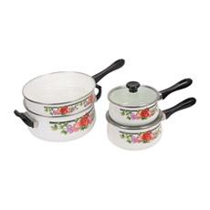 Бакелитового ручку потенциометра молока и панорамирование чугун эмаль посуда для приготовления пищи на кухне Pot (-1308)