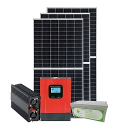 15W-9ah función USB Sistema de Casa Solar con radio FM