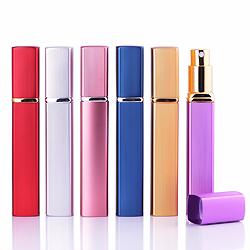 Pulverizador de Perfume Recargables Viajes Caja de Metal de Oro del Depósito de Vidrio de 12ml Frasco de Perfume Tobera de Aluminio Botellas Retornables de Pulverización