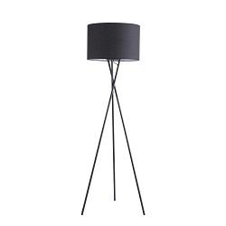 Moderno Hotel de Tela Blanca Decorativa LED Lámpara de Piso de Acero de la Sombra