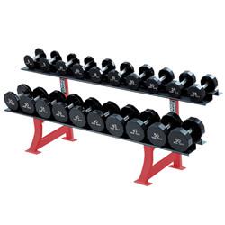 Haltères Poids du rack Rack Vertical Stand d'haltères Support pour haltères avec jeu d'haltères Poids d'haltères Rack rack