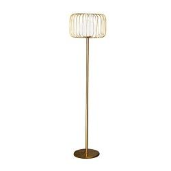 la Lámpara Decorativa con Tela Sombra Piso de la Cuerda de Metal