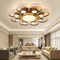 Montado en el Cuadrado de Superficie de las Luces de Techo LED Modernos para Montaje de la Luz de Sala de Estar en Casa Lampshade Interiores Decorativos Acrílico