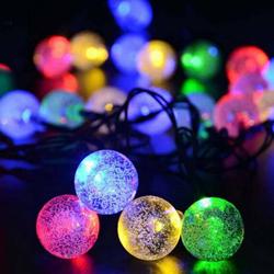 Feux à LED de 1,5 M de Chaîne à Billes Étanche pour Arbre de Noël Wedding Accueil Décoration Intérieure Alimentée par Batterie