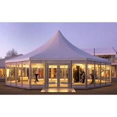 Tienda octagonal de cristal de la boda de la carpa del acontecimiento de lujo al aire libre de aluminio del partido