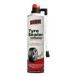 Aluguer de vedante de pneus com Compressor de ar através da válvula