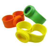 Resistente al agua de caucho de silicona de colores intercambiables Slap Watch Correa