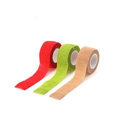 Les fabricants d'approvisionnement médical personnalisé assortiment de couleurs imprimées nontissé Bandages élastiques cohésive auto-adhésif pour la médecine vétérinaire de sports d'enrubannage