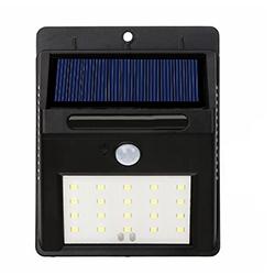 En el exterior gris plata Sensor PIR de pared Solar solar lámpara de luz LED Pathway
