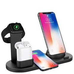 Быстро Подставка телефона беспроводной зарядной станции для Samsung iPhone