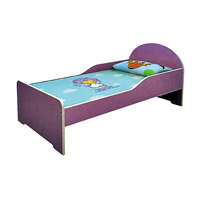 Lit simple en bois mignon petit lit simple (SF-88C)