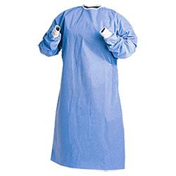 Robe chirurgicale non tissée jetable avec écharpe élastique / tricotée