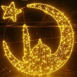 Decoración de Navidad Hermosa Decoración en 3D LED Luz Motifestrellas de Ocho Puntas