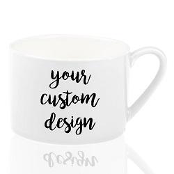 Branco Cerâmico caneca de café xícara de chá com colher, caneca com alça colher