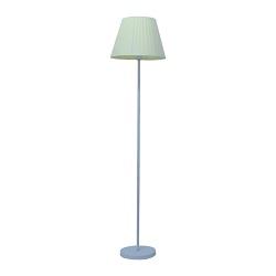 Proyecto de Metal de Cromo Negro y el Tejido Acrílico Sombra Lámpara de Piso Adjustale con TIRA DE LEDS
