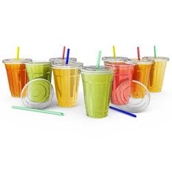 Copos bebendo plásticos frios descartáveis
