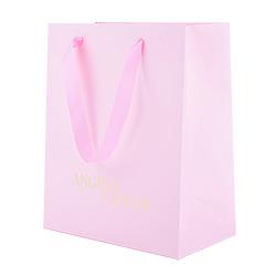 Adorável Cosméticos Rosa/Dom Saco Retângulo comercial de embalagens de papel com o logotipo hot stamping